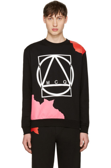 McQ Alexander Mcqueen - Black Abstract Icon Clean Pullover