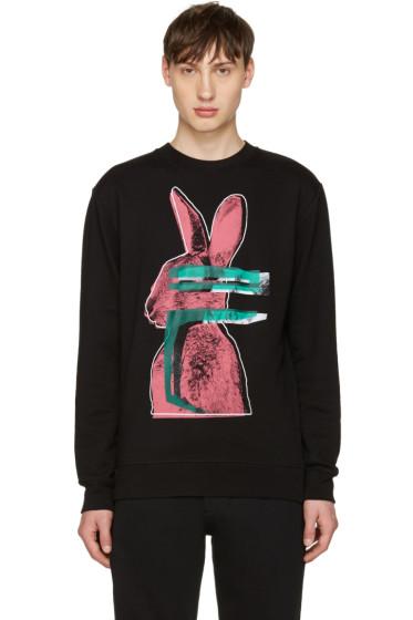 McQ Alexander Mcqueen - Black Glitch Bunny Clean Pullover