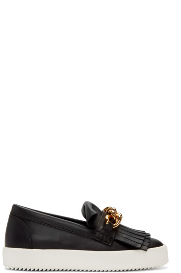 Giuseppe Zanotti - Black May London Fringed Sneakers
