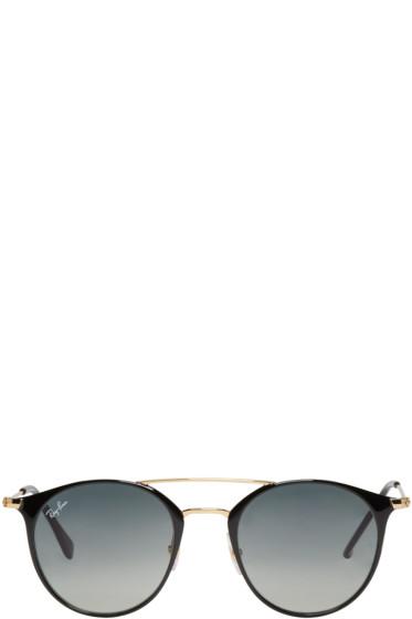 Ray-Ban - Black Double Bridge Sunglasses
