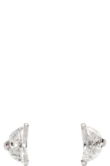 Maison Margiela Fine Jewellery - White Gold Split Solitaire Earrings