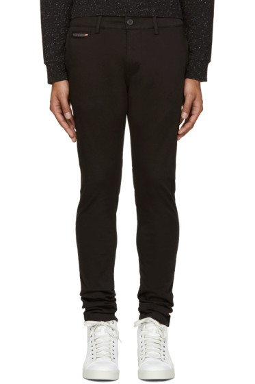 Diesel - Black Chi-Shaped Trousers