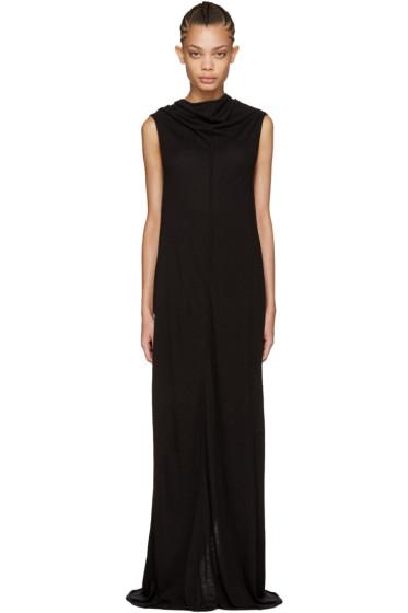 Rick Owens Lilies - Black Long Jersey Dress