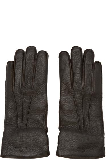 Belstaff - Brown Leather Buckle Gloves