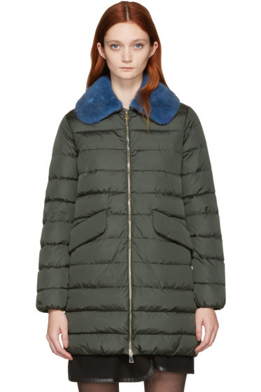 Moncler - Green Down Indis Coat