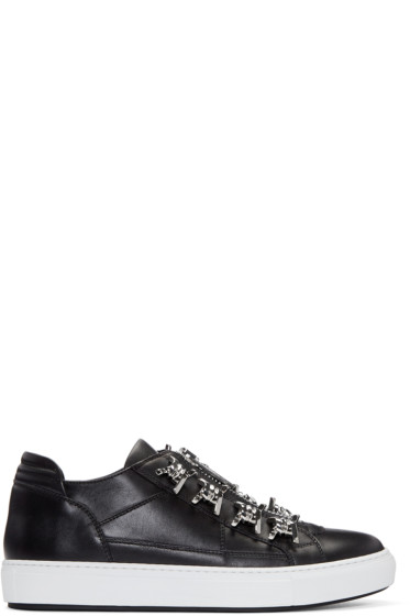 Dsquared2 - Black Leather Asylum Sneakers
