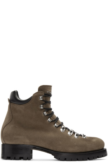 Dsquared2 - Brown Suede Hiking Boots
