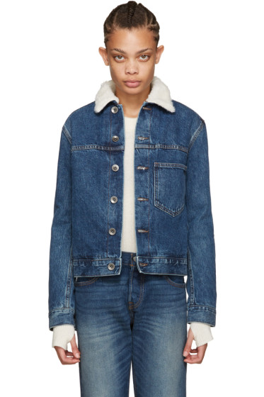 Helmut Lang - Black Sherpa Denim Jacket