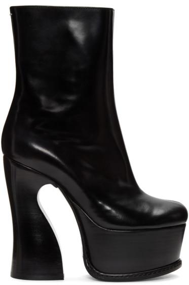 Maison Margiela - Black Heeled Ankle Boots