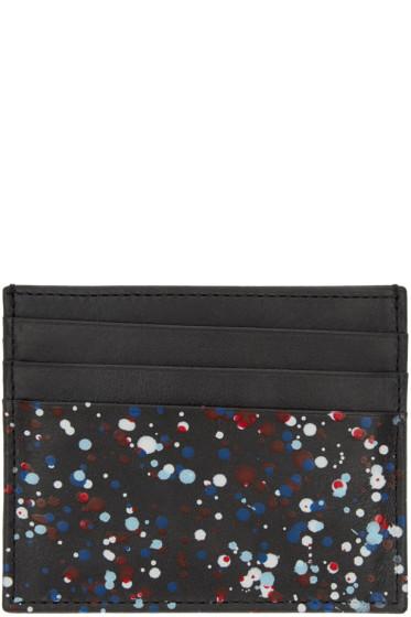Maison Margiela - Black Paint Splatter Card Holder