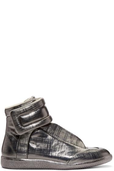 Maison Margiela - Gunmetal Metallic Future High-Top Sneakers