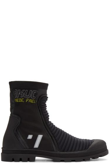 Maison Margiela - Black High-Top Sneakers