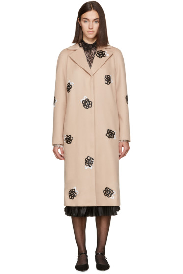 Christopher Kane - Beige Sequinned Coat