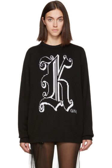 Christopher Kane - Black Wool 'Kane' Sweater