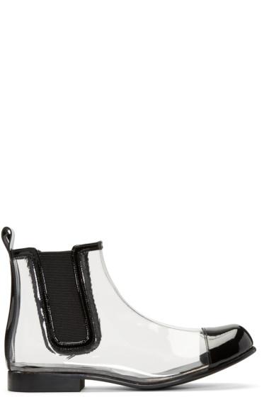 Comme des Garçons - Clear & Black PVC Chelsea Boots