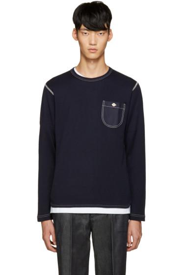 Junya Watanabe - Navy Honeycomb Knit T-Shirt