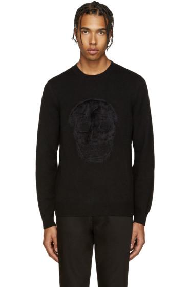 Alexander McQueen - Black Mohair Skull Sweater
