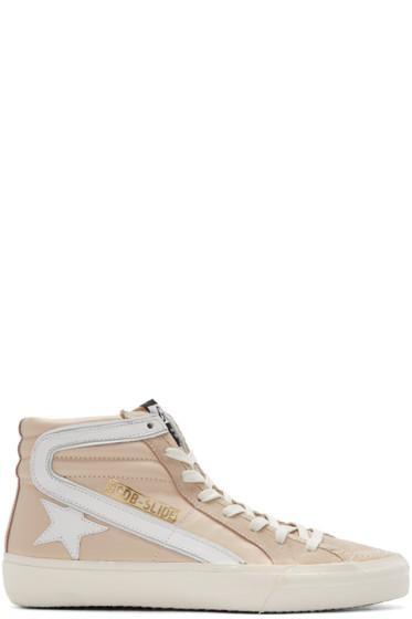Golden Goose - Pink Slide High-Top Sneakers