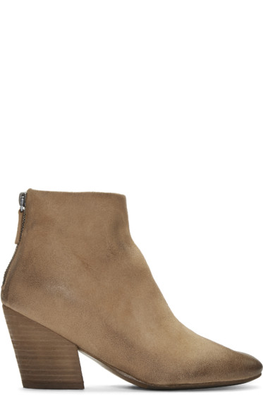 Marsèll - Beige Suede Pennolina Boots