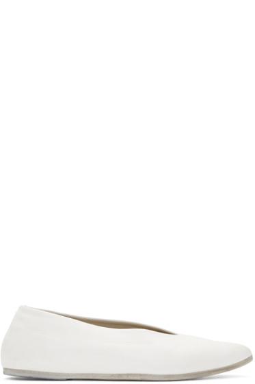 Marsèll - White Questa Lucio Vanotti Edition Ballerina Flats