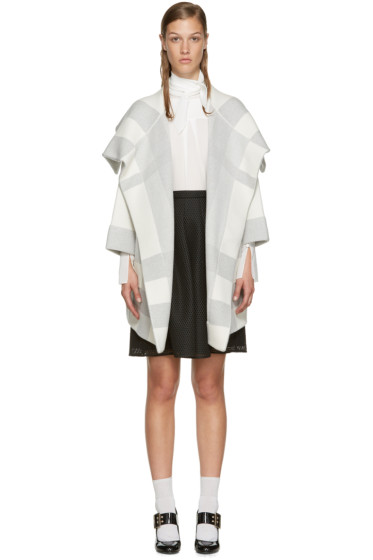 Burberry - White & Grey Horlton Coat