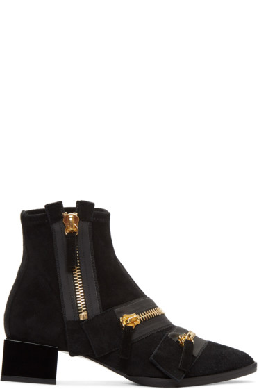 Pierre Hardy - Black Suede Lou Ankle Boots