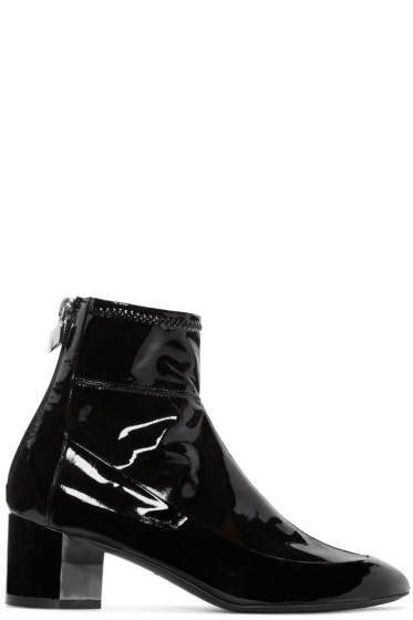 Pierre Hardy - Black Patent Leather Illusion Boots