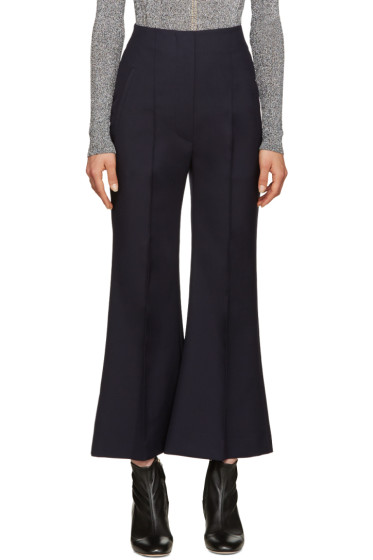 Roksanda - Navy Wool Gardham Trousers