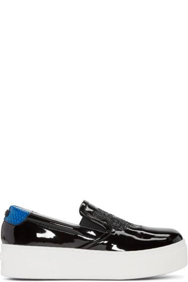 Kenzo - Black Patent Platform Sneakers