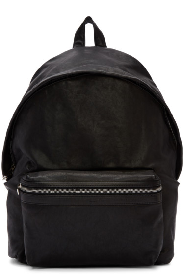Saint Laurent - Black Leather Backpack