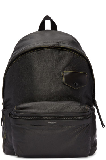 Saint Laurent - Black Vintage City Backpack