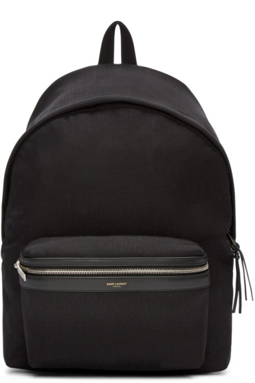 Saint Laurent - Black Canvas Backpack