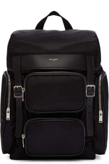 Saint Laurent - Black Canvas Hunting Backpack