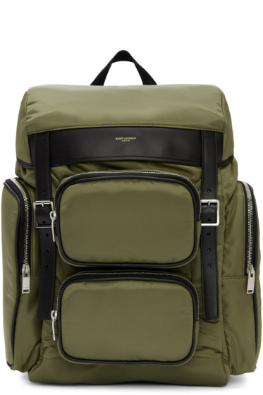 Saint Laurent - Green Nylon Hunting Backpack