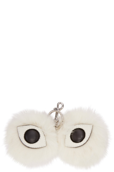 Stella McCartney - Ivory Faux-Fur Eyes Keychain