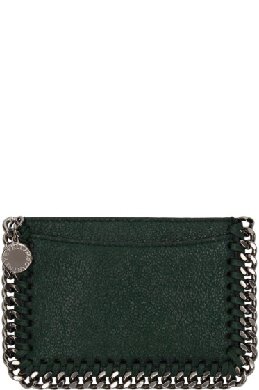 Stella McCartney - Green Falabella Shaggy Deer Card Holder