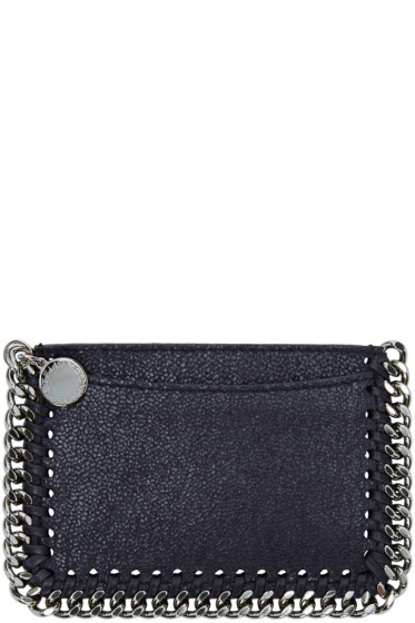 Stella McCartney - Navy Falabella Shaggy Deer Card Holder