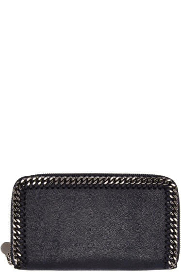 Stella McCartney - Navy Falabella Shaggy Deer Wallet