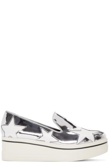 Stella McCartney - Silver Star Binx Loafers
