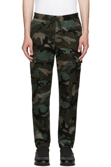 Valentino - Green Camo Trousers