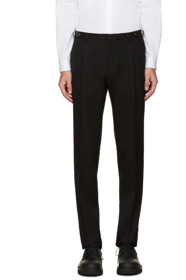 Valentino - Black Wool Belted Trousers