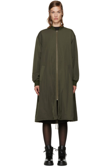 Army by Yves Salomon - Reversible Green Fur Bomber Jacket