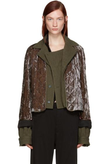 Haider Ackermann - Brown Quilted Velvet Jacket