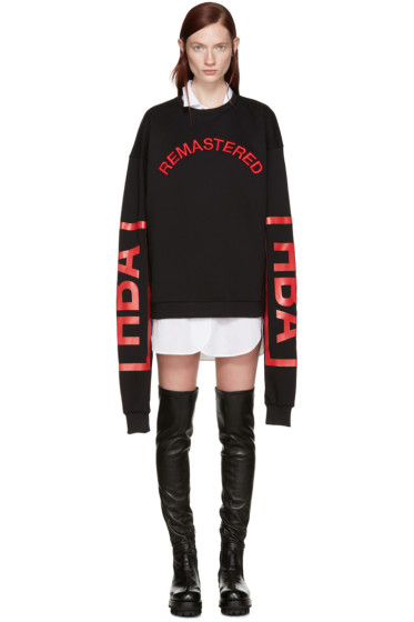Hood by Air - Black 'Remastered' Sweatshirt