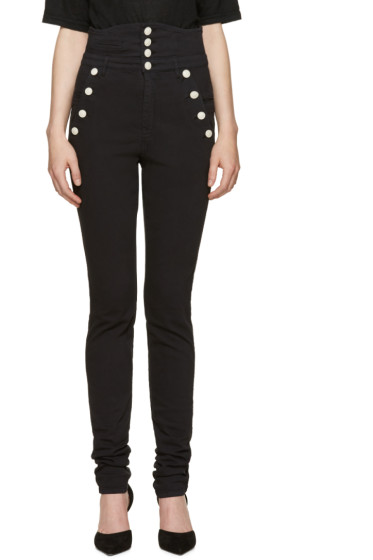 Isabel Marant - Black High-Rise Marvin Jeans
