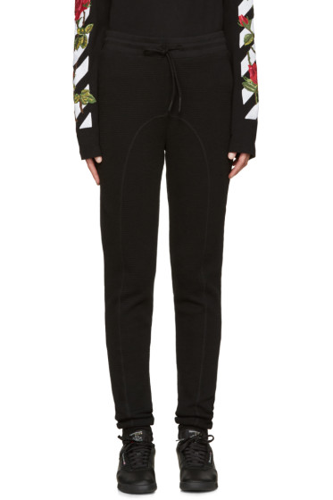 Off-White - Black Waffle Knit Lounge Pants