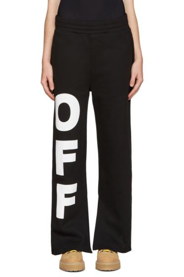 Off-White - Black 'Off' Split Lounge Pants