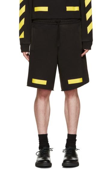 Off-White - Black & Yellow Arrows Shorts
