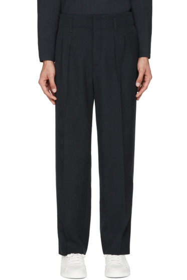 Lemaire - Navy Carrot Trousers
