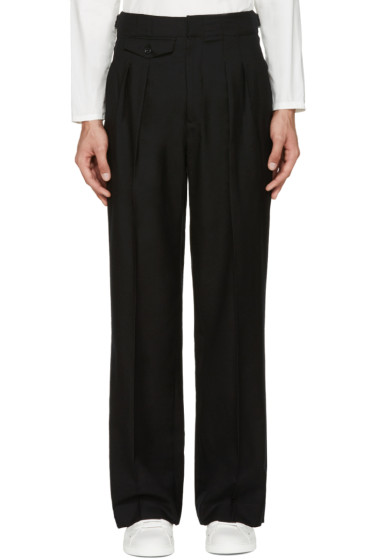 Lemaire - Black Two-Pleat Wide-Leg Trousers